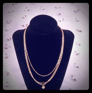 Thin Gold Multi Chain Necklace